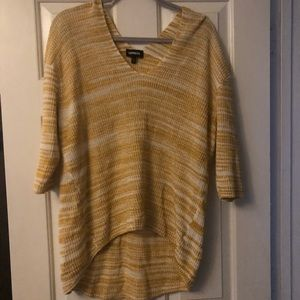 Express sweater, dandelion yellow/gold and white